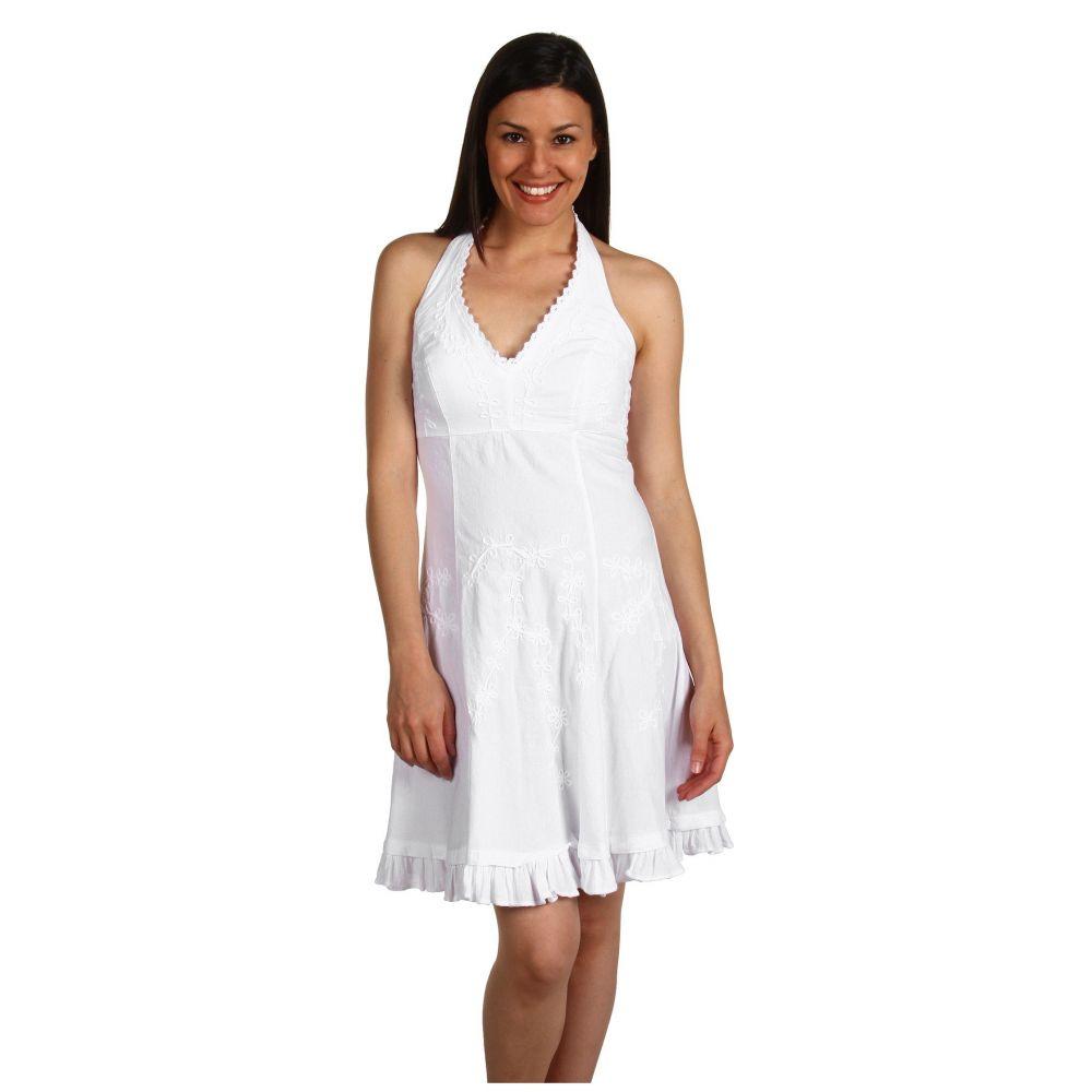 スカーリー Scully レディース ワンピース ワンピース・ドレス【Cantina Halter Dress】White