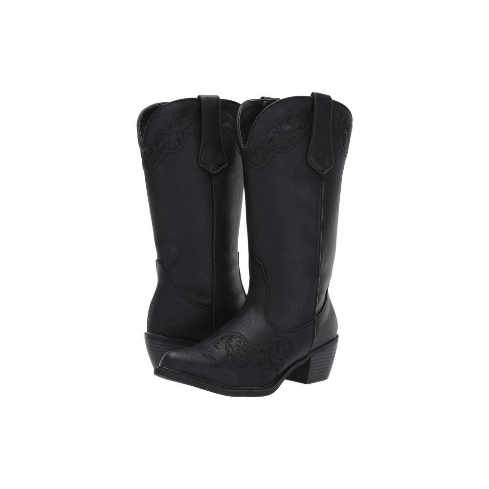 ローパー Roper レディース ブーツ シューズ・靴【Scrollin】Black Faux Leather Vamp