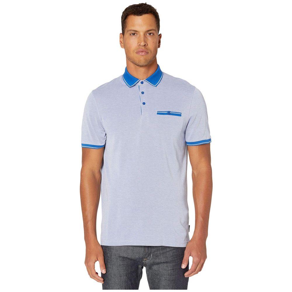 テッドベーカー Ted Baker メンズ ポロシャツ 半袖 トップス【Mightie Short Sleeve Flat Knit Soft Touch Polo】Blue