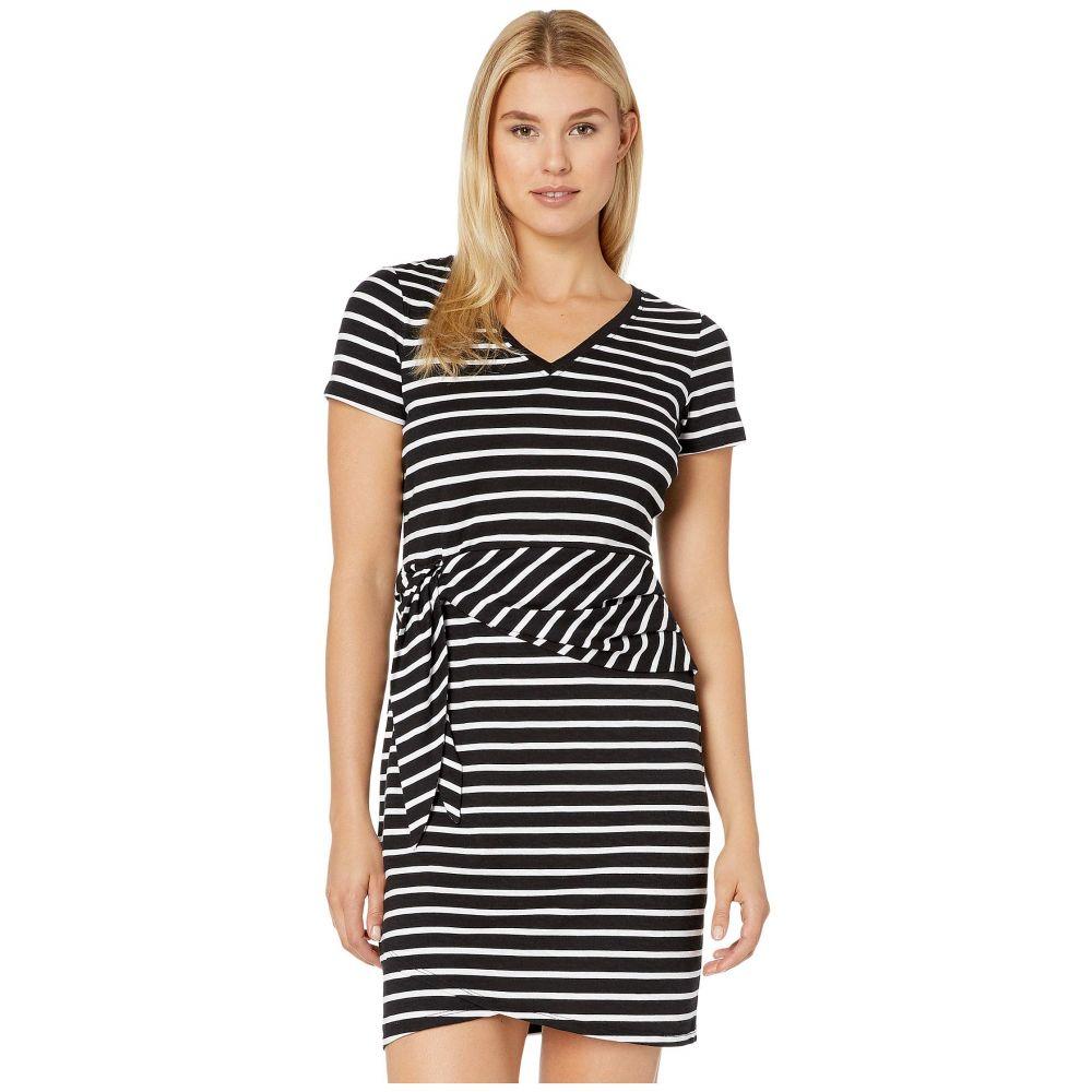 トミー バハマ Tommy Bahama レディース ワンピース ワンピース・ドレス【Sonoran Stripe Twist Short Sleeve Dress】Black