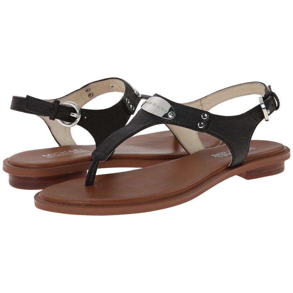 マイケル コース MICHAEL Michael Kors レディース サンダル・ミュール シューズ・靴【MK Plate Thong】Black Saffiano