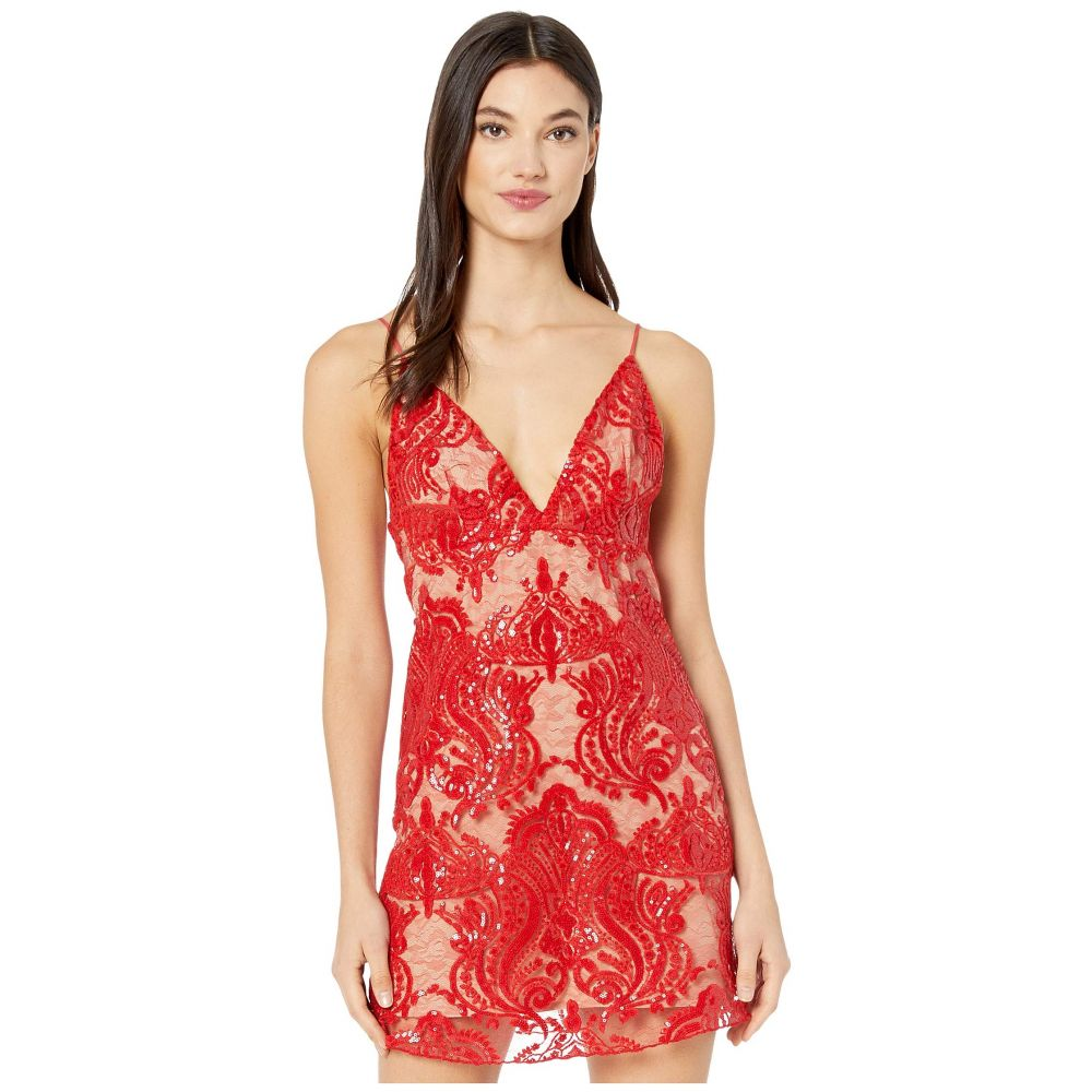 フリーピープル Free People レディース ワンピース ミニ丈 ワンピース・ドレス【Night Shimmer Mini Dress】Red