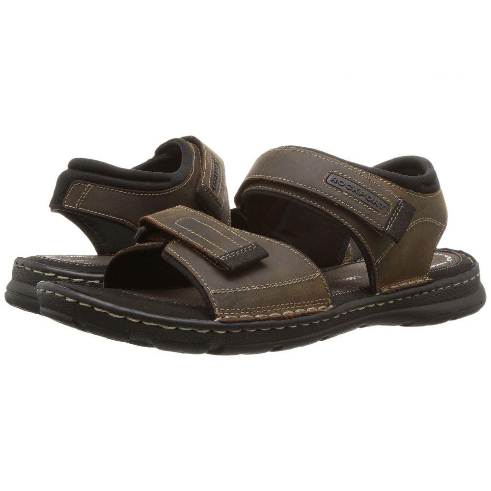 ロックポート Rockport メンズ サンダル シューズ・靴【Darwyn Quarter Strap】Brown II Leather