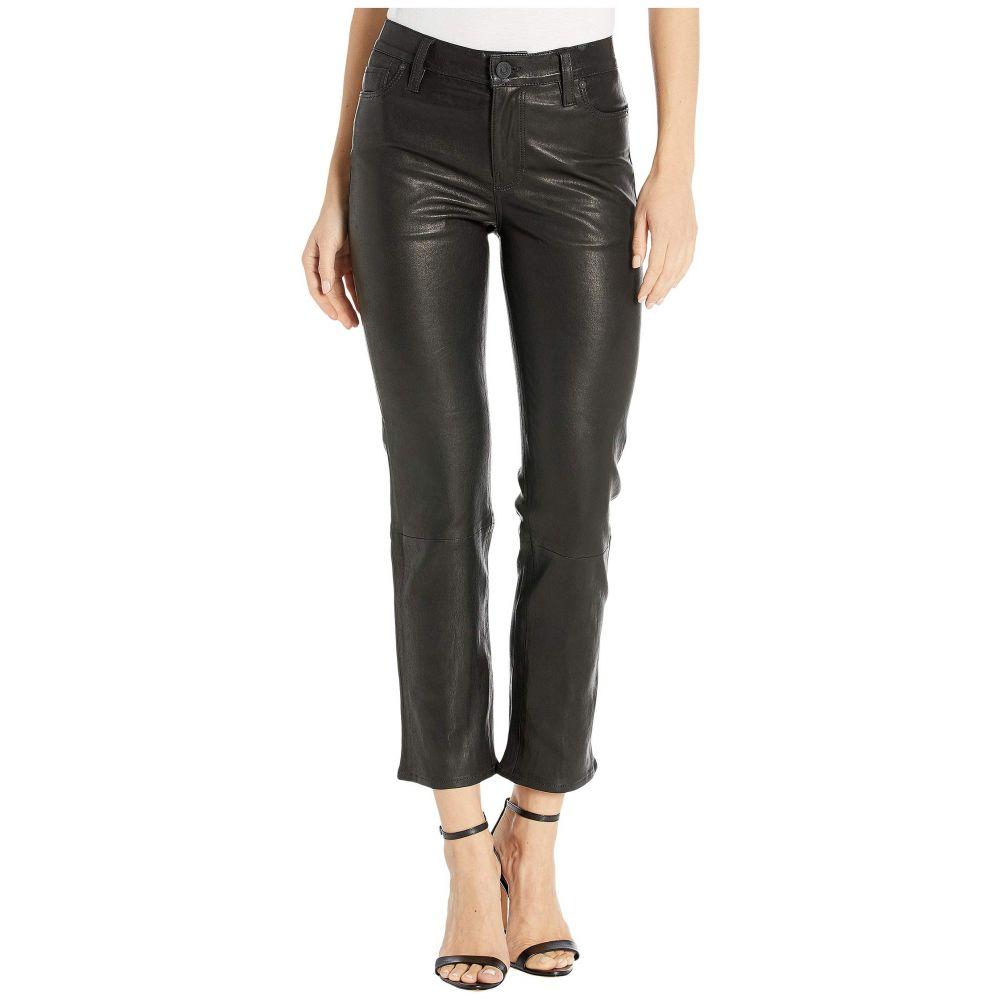 ハドソンジーンズ Hudson Jeans レディース ボトムス・パンツ 【Nico Leather Mid-Rise Straight in Black】Black
