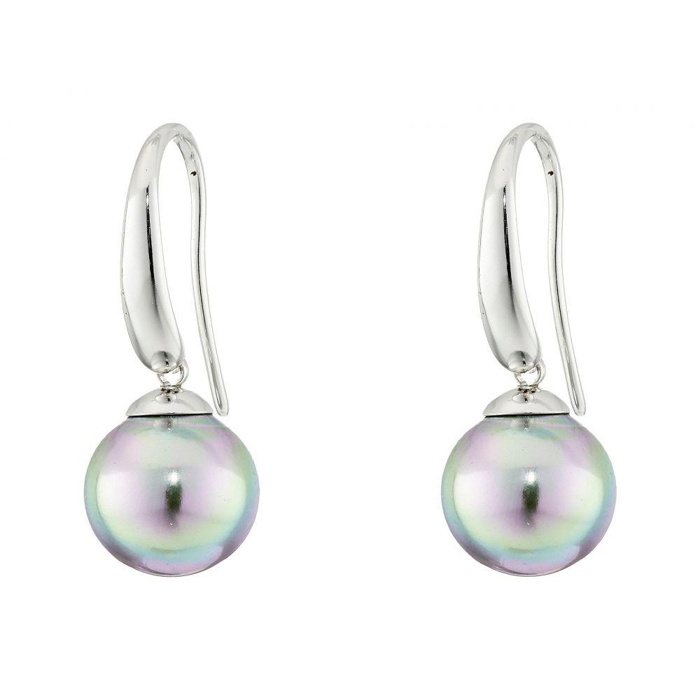 マジョリカ Majorica レディース イヤリング・ピアス ドロップピアス ジュエリー・アクセサリー【French Wire Round Pearl Drop Earrings】Silver/Grey