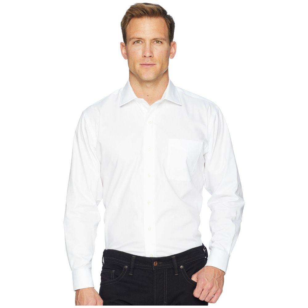 マグナレディ Magna Ready メンズ シャツ トップス【Long Sleeve Magnetically-Infused Solid Pinpoint Dress Shirt- Spread Collar】White