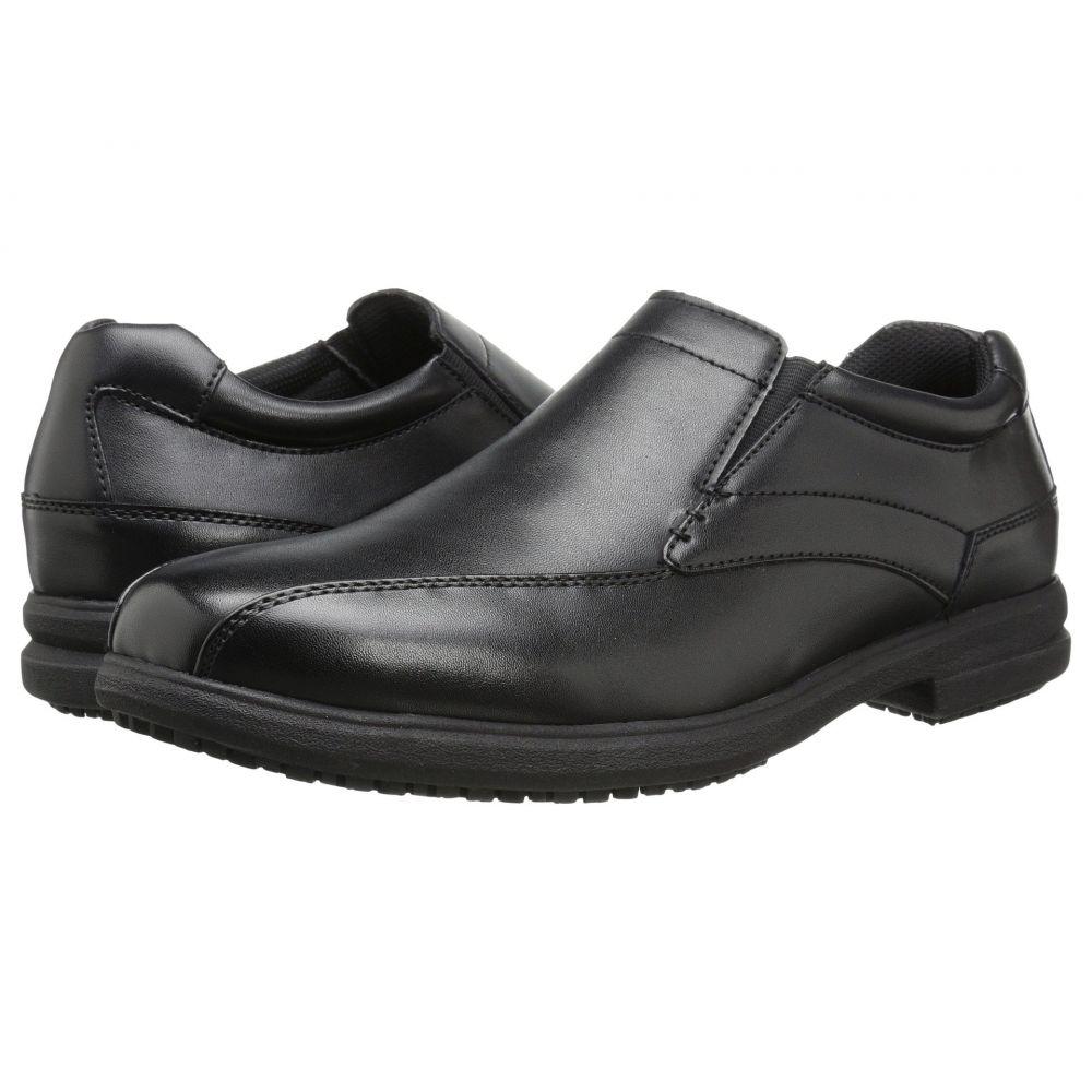 ナンブッシュ Nunn Bush メンズ スリッポン・フラット シューズ・靴【Sanford Slip Resistant Bicycle Toe Work Slip-On】Black