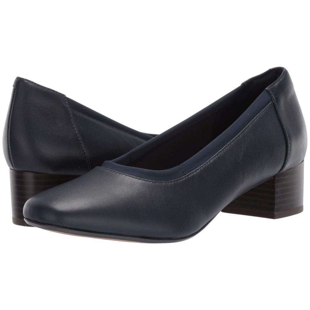 クラークス Clarks レディース ヒール シューズ・靴【Chartli Fame】Navy Leather