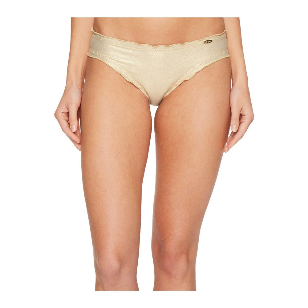 ルリファマ Luli Fama レディース ボトムのみ 水着・ビーチウェア【Cosita Buena Wavey Full Bikini Bottom】Gold Rush