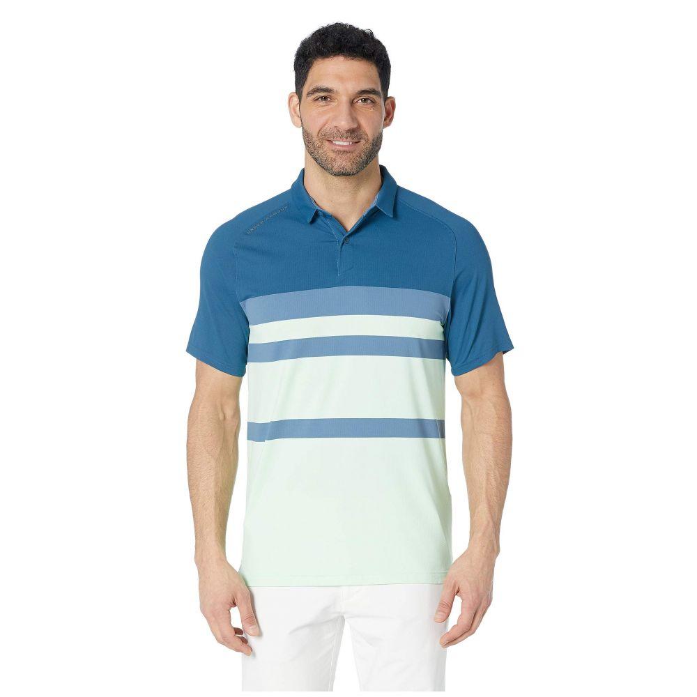 アンダーアーマー Under Armour Golf メンズ ポロシャツ トップス【Iso-Chill Block Polo】Petrol Blue/Pitch Gray