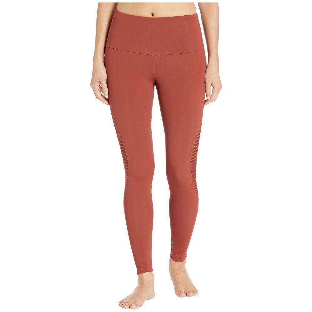 オンジー Onzie レディース スパッツ・レギンス インナー・下着【Shape Midi Leggings】Warm Pinecone Stripe Mesh