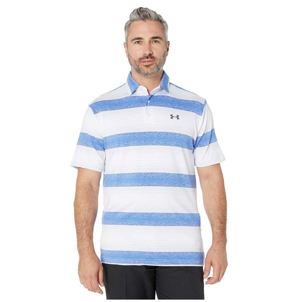 アンダーアーマー Under Armour Golf メンズ ポロシャツ トップス【Playoff Polo 2.0】White/Moonstone Blue/Pitch Gray