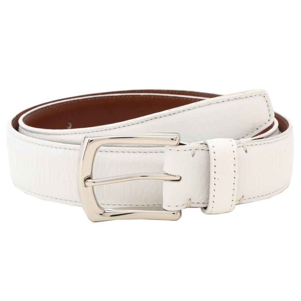トリノレザー Torino Leather Co. メンズ ベルト 【35MM Burnished Tumbled】White