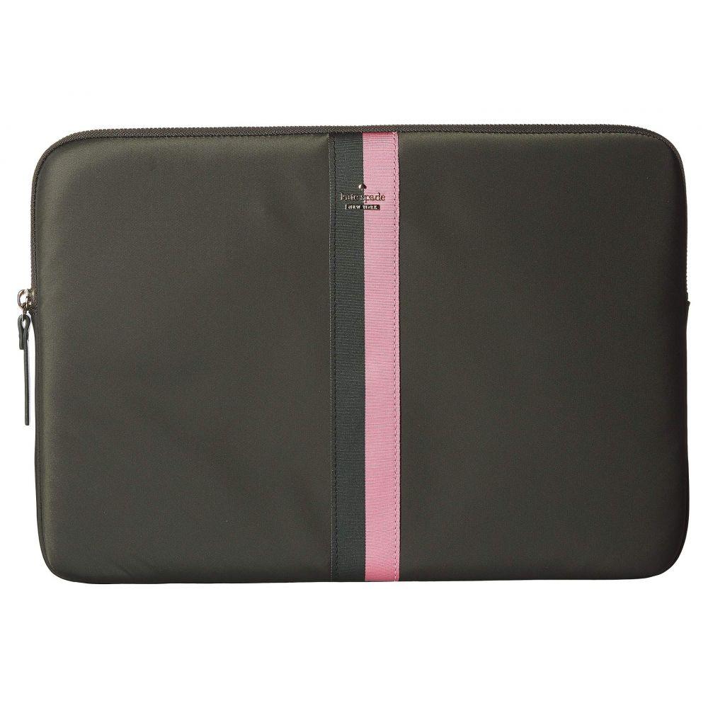 ケイト スペード Kate Spade New York レディース パソコンバッグ バッグ【Varsity Stripe Nylon Universal Laptop Sleeve Laptop Cases】Deep Evergreen