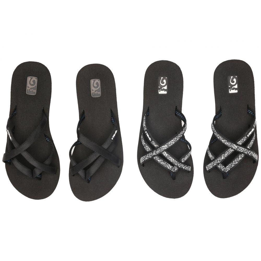 テバ Teva レディース ビーチサンダル 2点セット ウェッジソール シューズ・靴【Mandalyn Wedge Ola 2-Pack】Black/Fleur Black