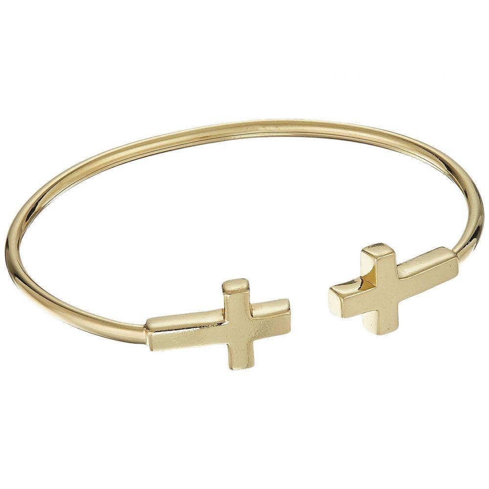 アレックス アンド アニ Alex and Ani レディース ブレスレット ジュエリー・アクセサリー【Cross Cuff Bracelet】KT Gold Plated