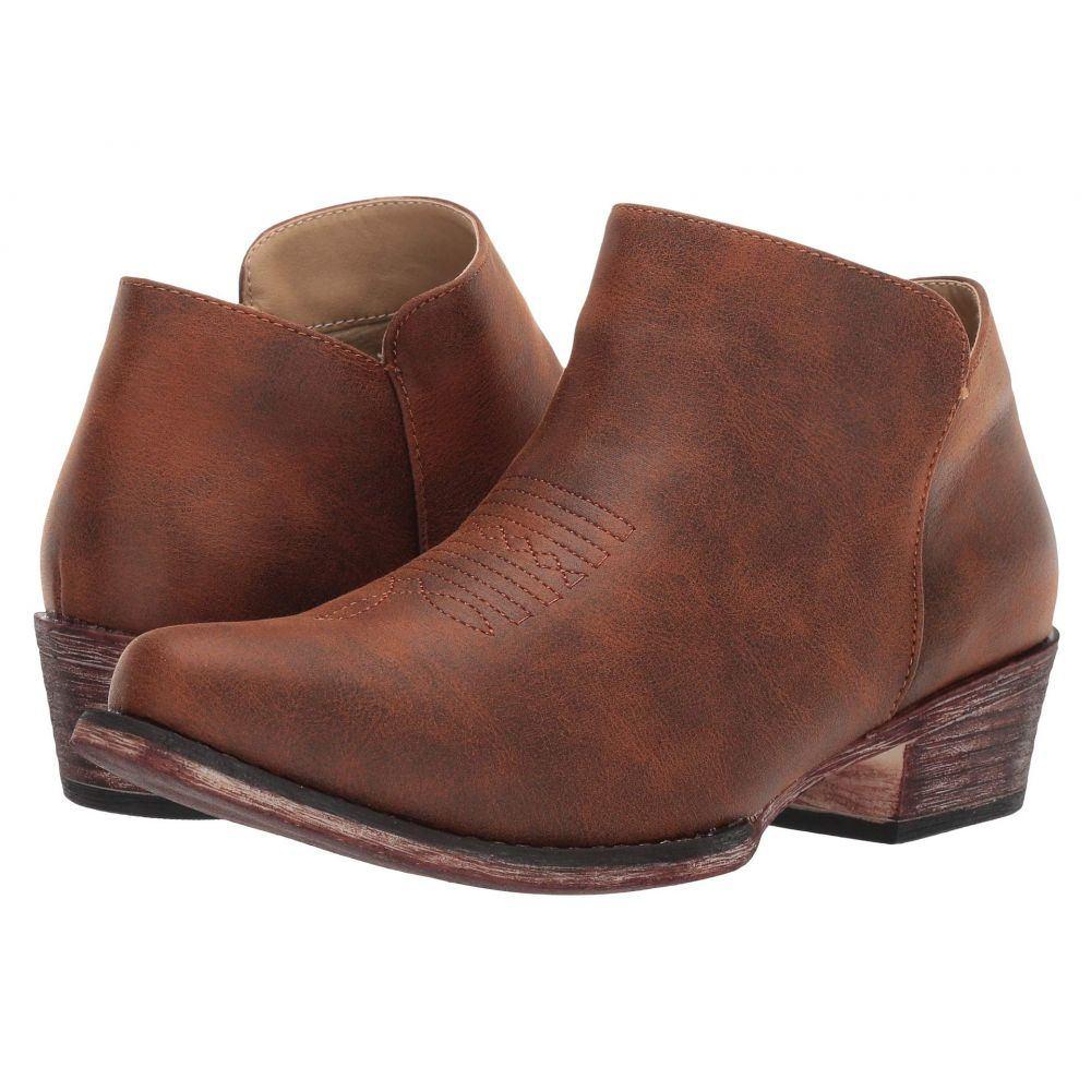 ローパー Roper レディース ブーツ シューズ・靴【Sofia】Snip Toe/Cognac Faux Leather
