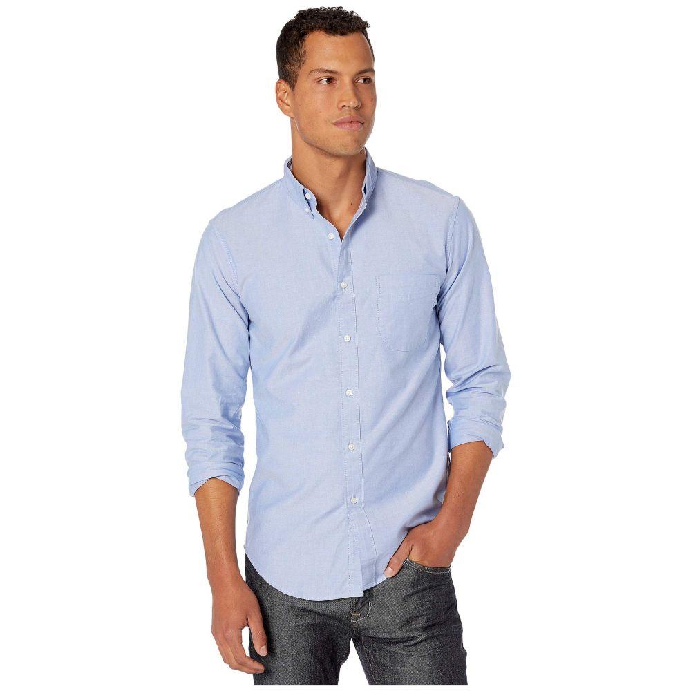 ジェイクルー J.Crew メンズ シャツ トップス【Slim American Pima Cotton Oxford Shirt with Mechanical Stretch】Raincoat Blue