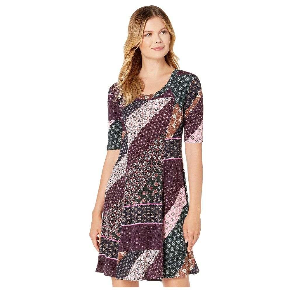 カレンケーン Karen Kane レディース ワンピース ワンピース・ドレス【Seamed A-Line Dress】Print