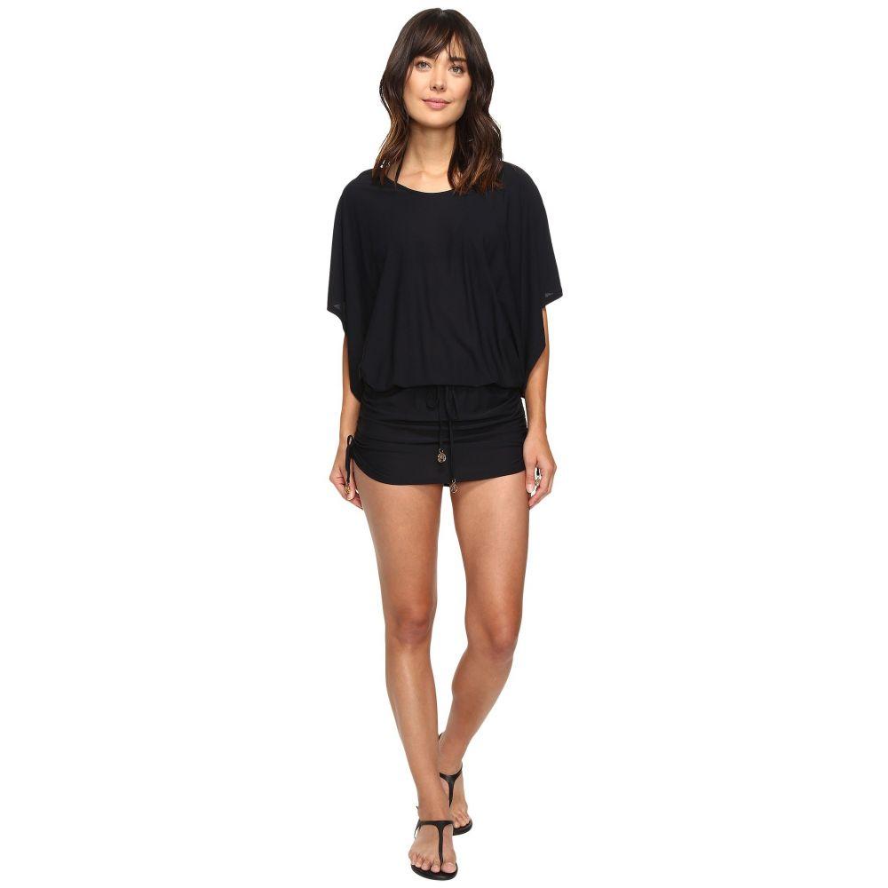 ルリファマ Luli Fama レディース ビーチウェア ワンピース・ドレス 水着・ビーチウェア【Cosita Buena South Beach Dress Cover-Up】Black