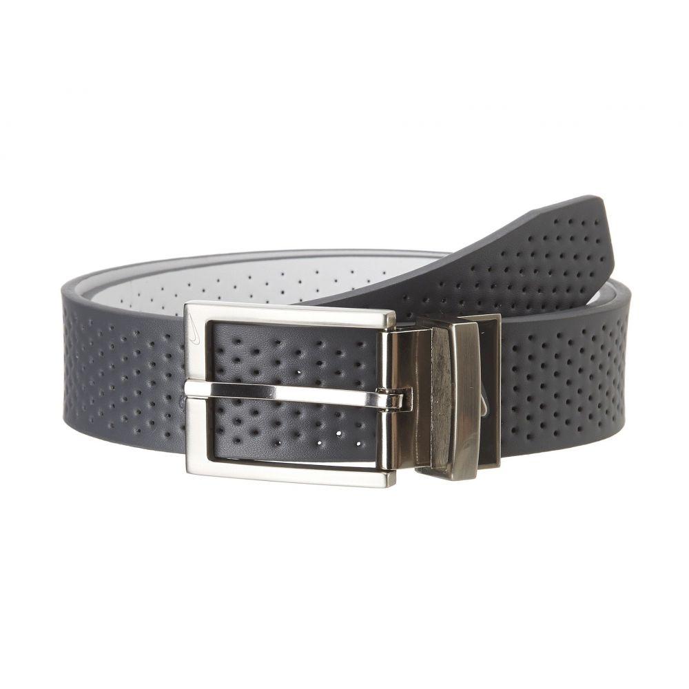 ナイキ Nike メンズ ベルト 【Pin Dot Perf Reversible】Dark Grey/White