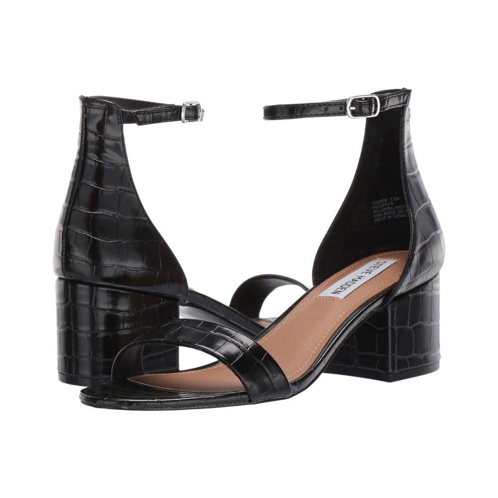 スティーブ マデン Steve Madden レディース サンダル・ミュール シューズ・靴【Irenee Sandal】Black Croco
