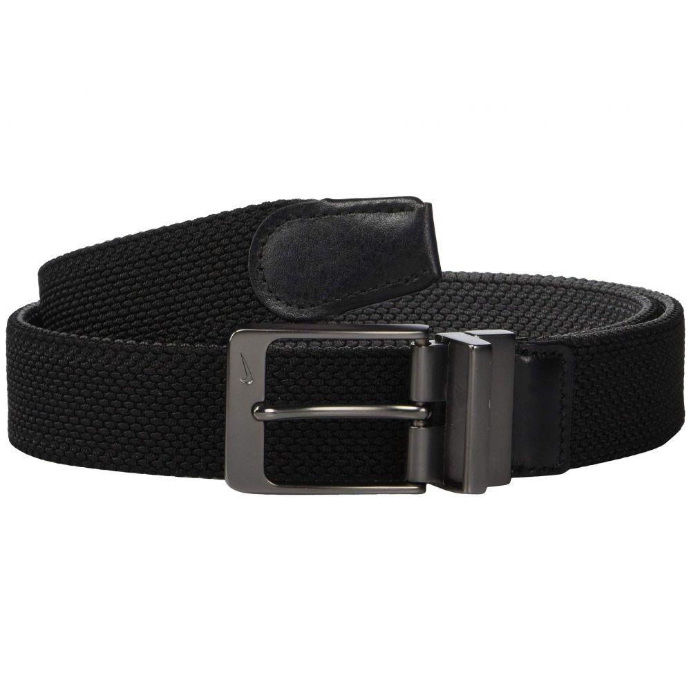 ナイキ Nike メンズ ベルト 【Reversible Stretch Woven】Black/Dark Grey