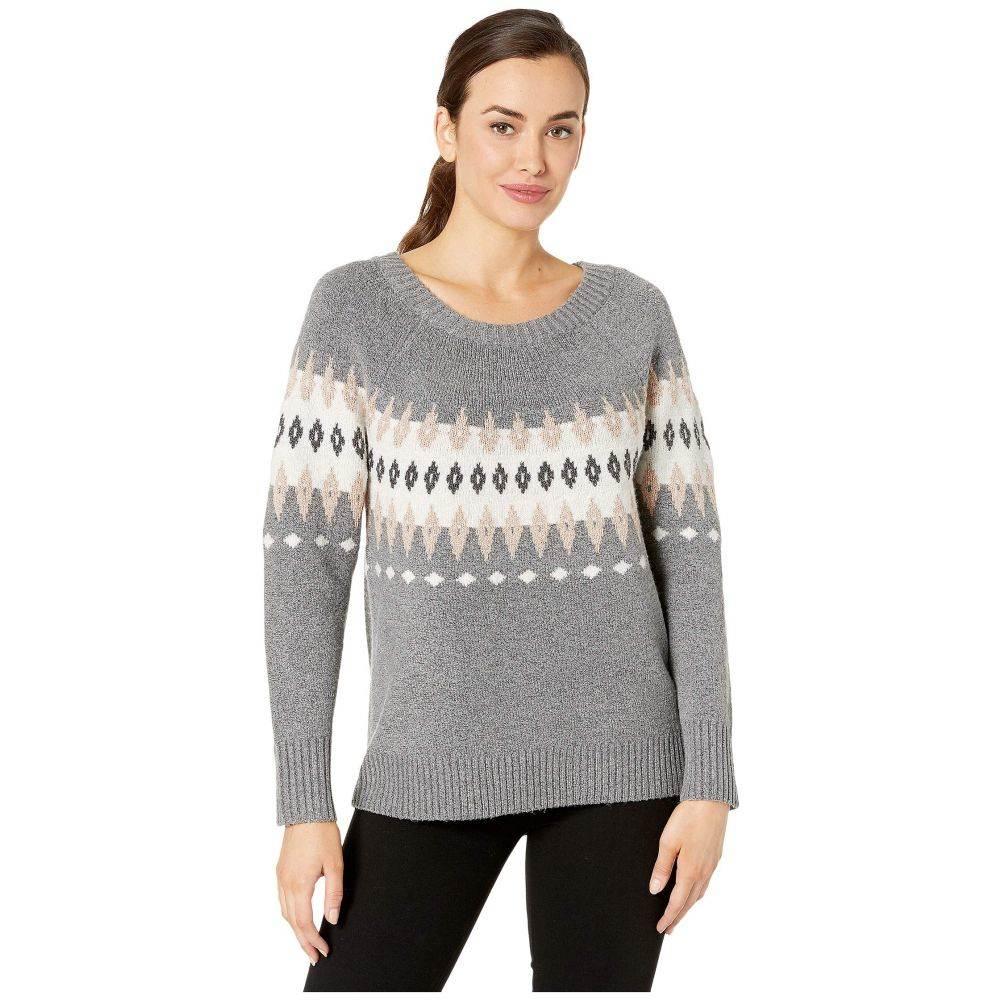 トリバル Tribal レディース ニット・セーター トップス【Long Sleeve Jacquard Sweater】Medium Grey