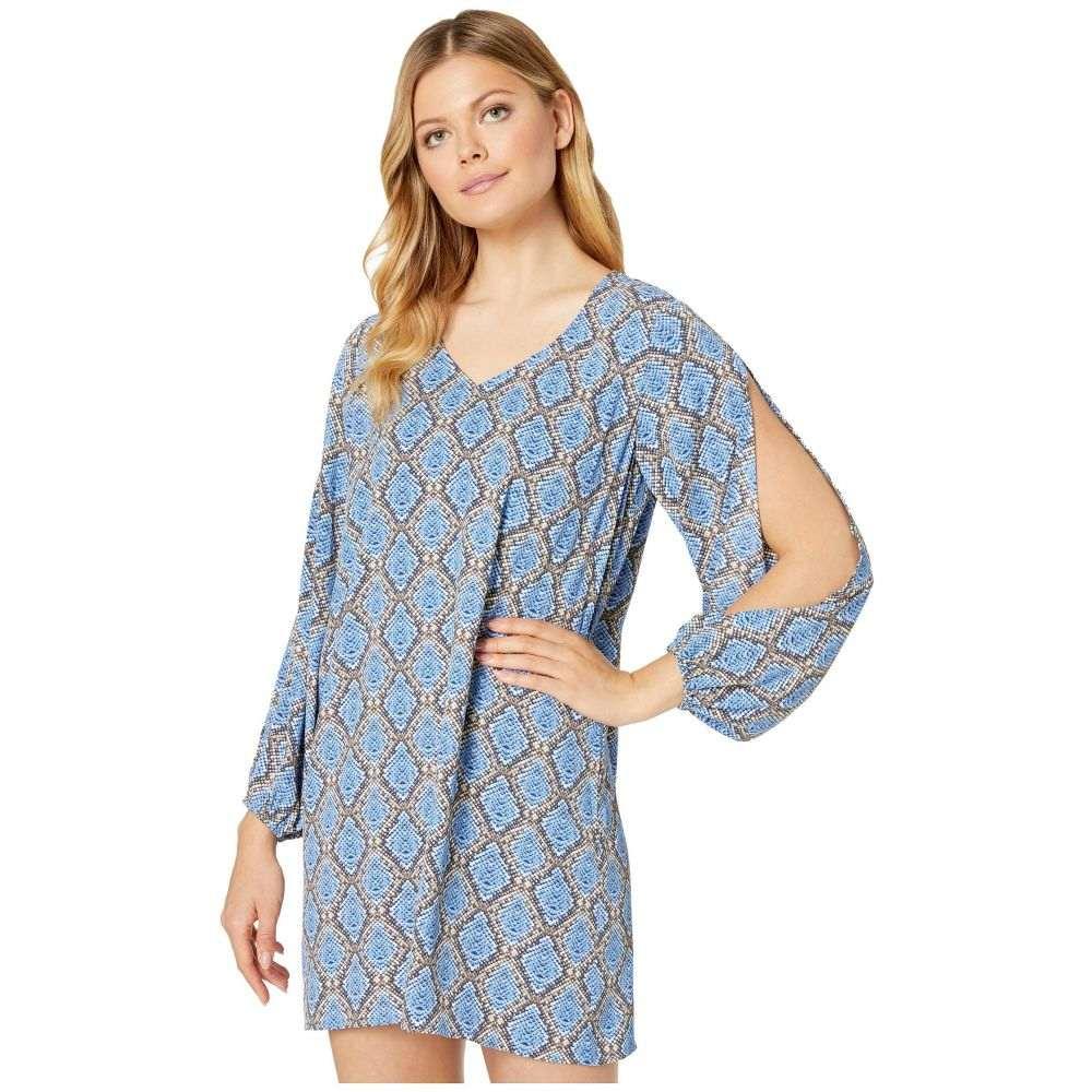 トミー バハマ Tommy Bahama レディース ビーチウェア Vネック ワンピース・ドレス 水着・ビーチウェア【Desert Python V-Neck Dress Cover-Up】Blue Monday