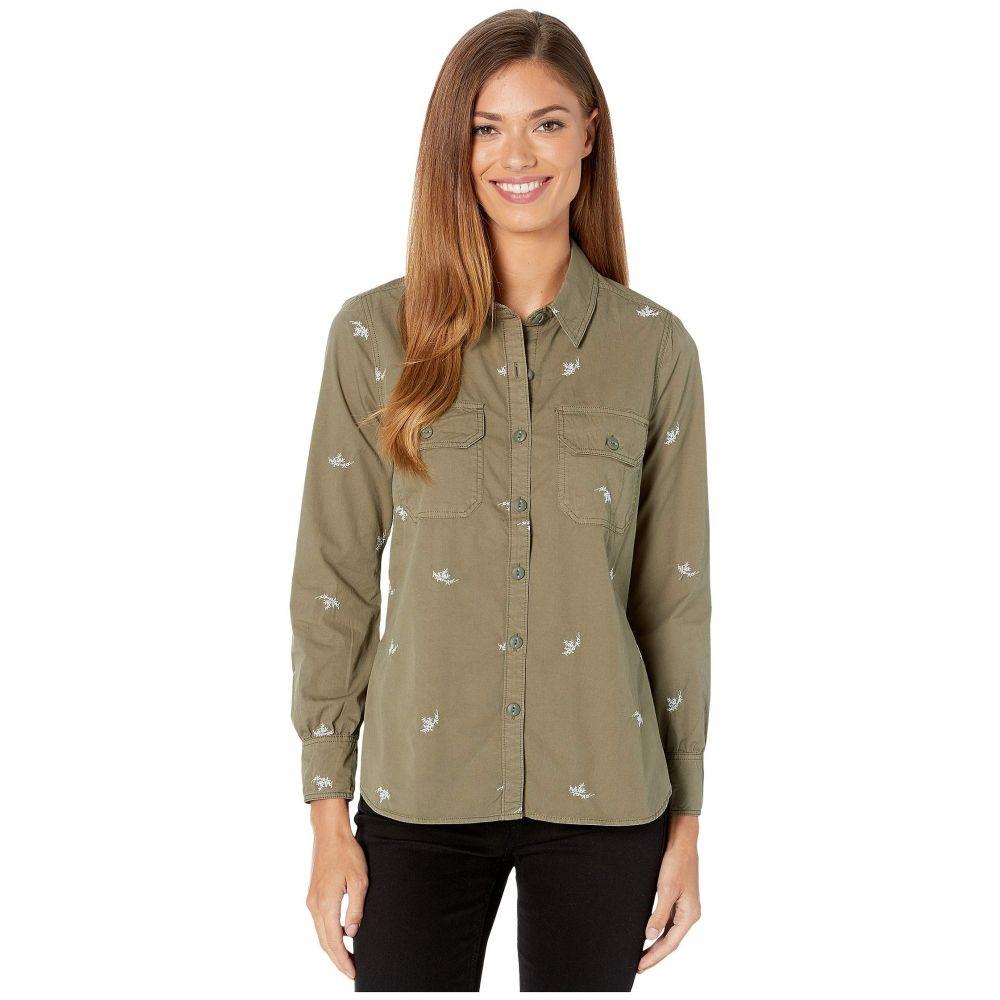 ラッキーブランド Lucky Brand レディース ブラウス・シャツ シャツジャケット トップス【Embroidered Shirt Jacket】Washed Olive