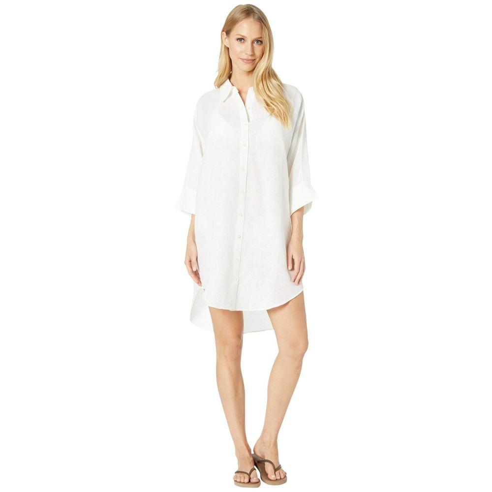 シーフォリー Seafolly レディース ビーチウェア シャツワンピース ワンピース・ドレス 水着・ビーチウェア【Linen Shirtdress Cover-Up】White