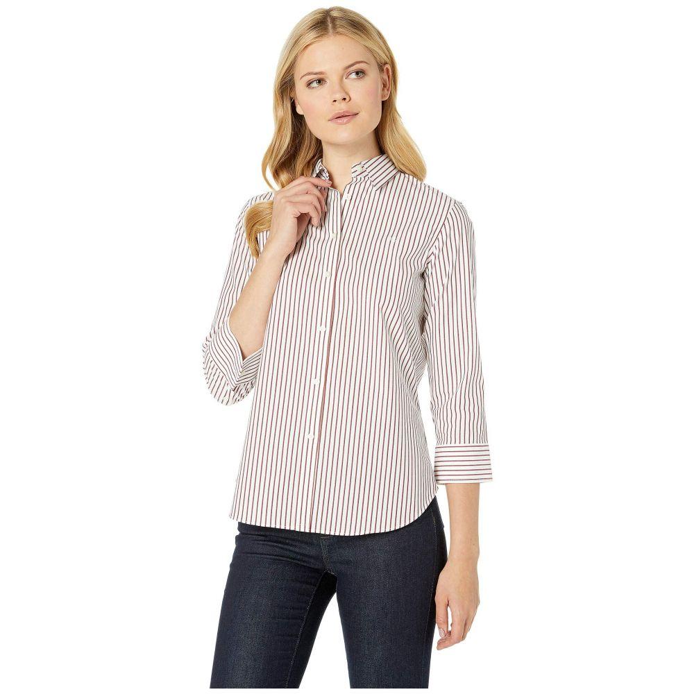 ラルフ ローレン LAUREN Ralph Lauren レディース ブラウス・シャツ トップス【No-Iron Button Down Shirt】White/Lipstick Red Multi