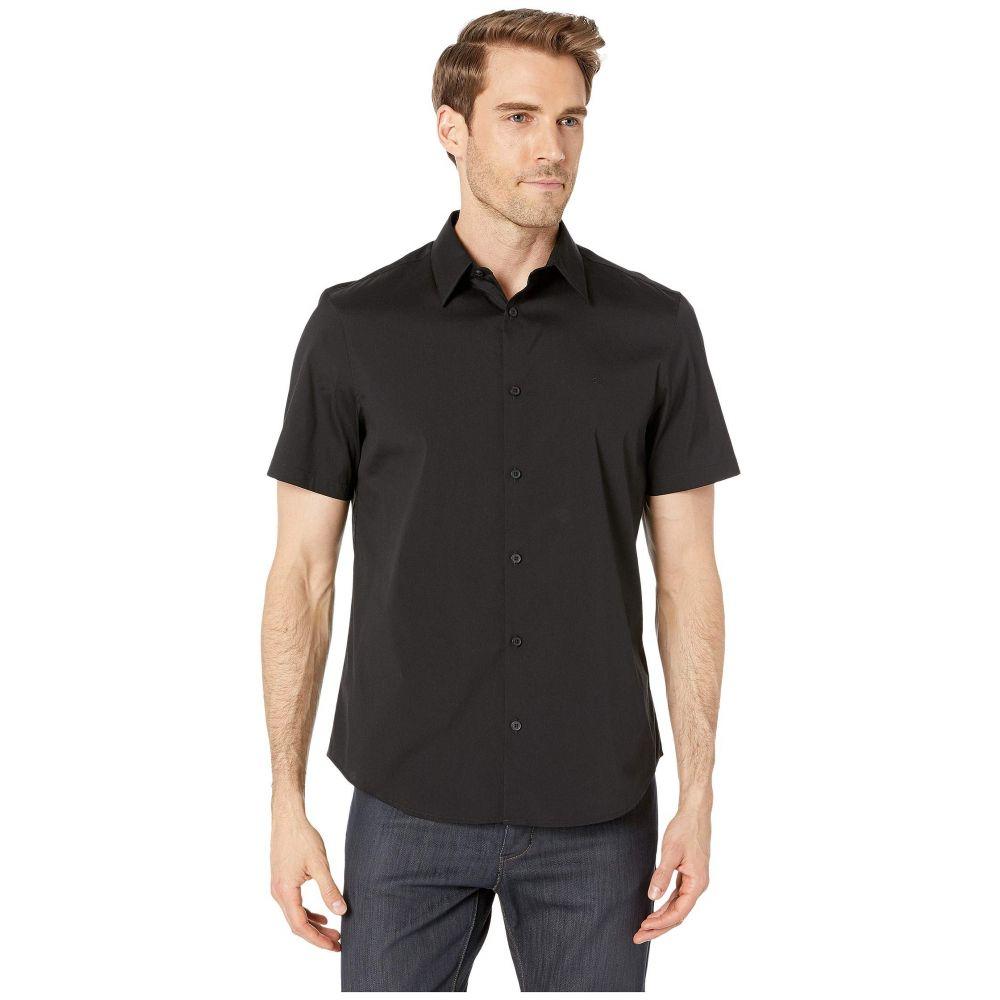 カルバンクライン Calvin Klein メンズ 半袖シャツ トップス【Short Sleeve Stretch Cotton Shirt】Black