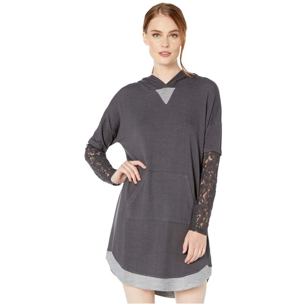 トリバル Tribal レディース ワンピース ワンピース・ドレス【Long Sleeve Hooded Dress w/ Lace Trim】Steel Grey