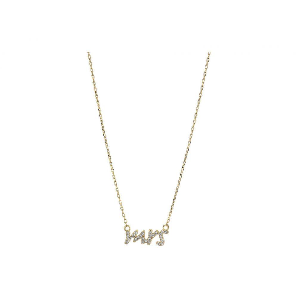 ケイト スペード Kate Spade New York レディース ネックレス ジュエリー・アクセサリー【Say Yes Mrs Pave Mini Pendant Necklace】Clear/Gold