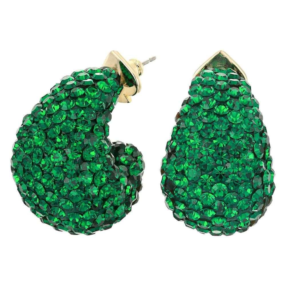 ケイト スペード Kate Spade New York レディース イヤリング・ピアス ジュエリー・アクセサリー【Adore-Ables Clay Pave Huggies Earrings】Emerald