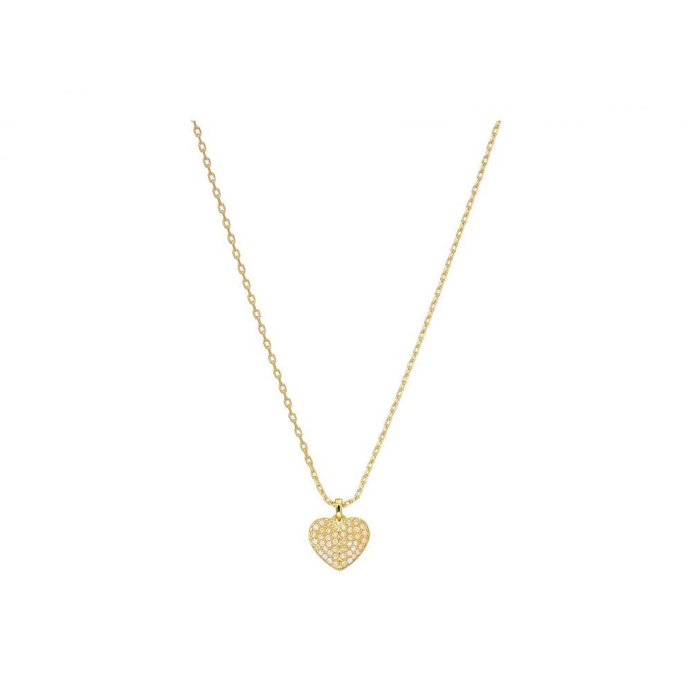 ケイト スペード Kate Spade New York レディース ネックレス ハート ジュエリー・アクセサリー【Heart To Heart Pave Mini Pendant Necklace】Clear/Gold