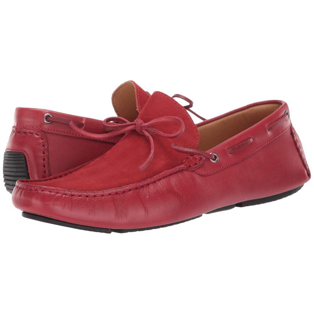 マッテオ マッシモ Massimo Matteo メンズ ローファー シューズ・靴【Leather/Nubuck Tie Driver】Red