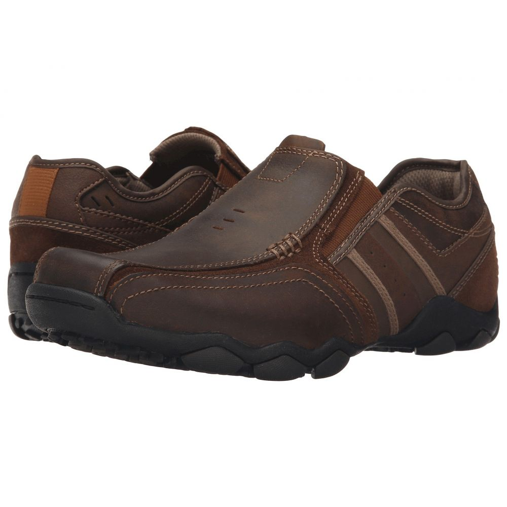 スケッチャーズ メンズ シューズ 靴 ローファー Dark Brown Leather いよいよ人気ブランド Diameter 新作入荷 SKECHERS - サイズ交換無料 Fit Zinroy Classic