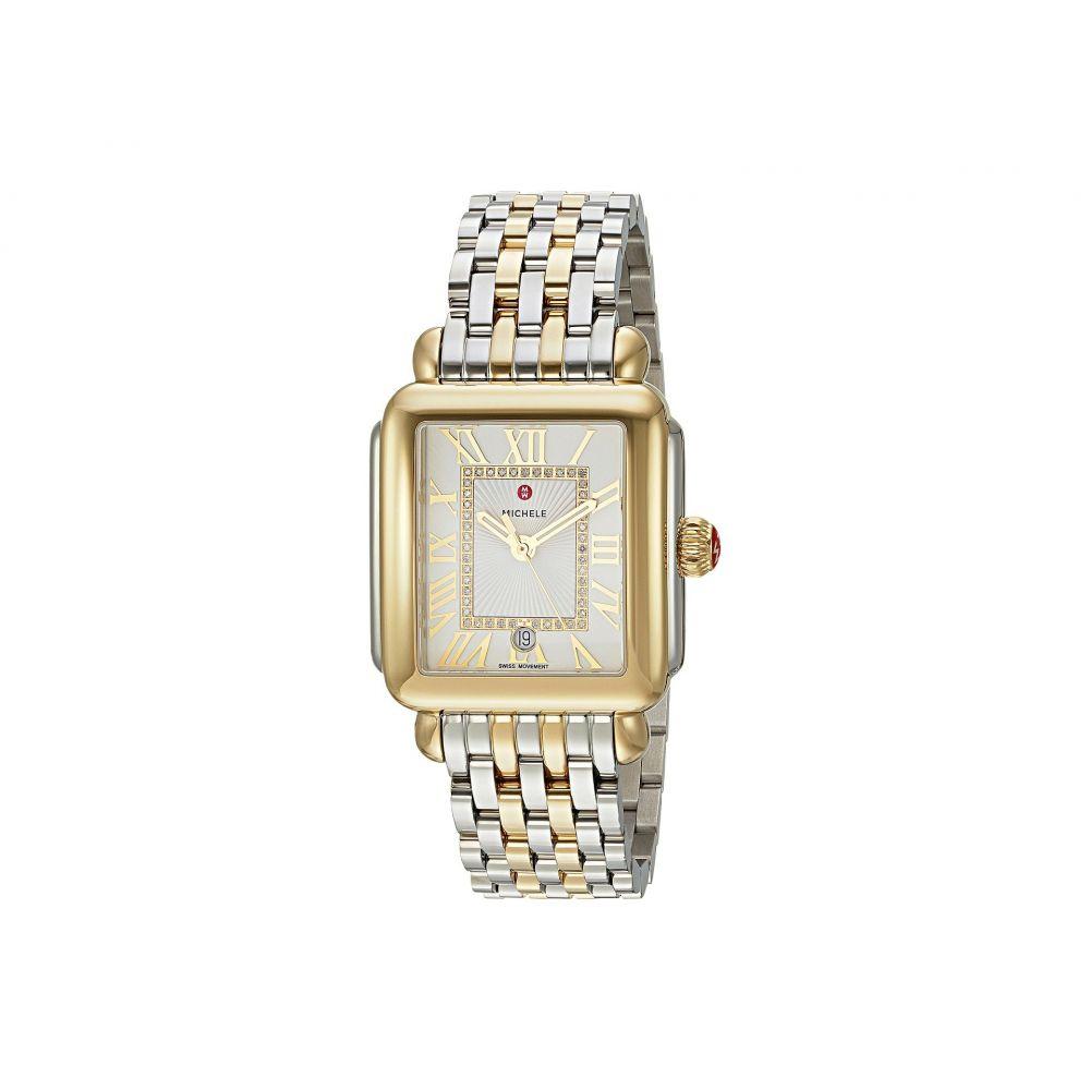 ミッシェル Michele レディース 腕時計 Deco Madison Two-Tone Diamond Dial Watch Two-Tone Silver Gold 特売限定 プレミアム•学割 対象 ホワイトデー 年末年始のご挨拶