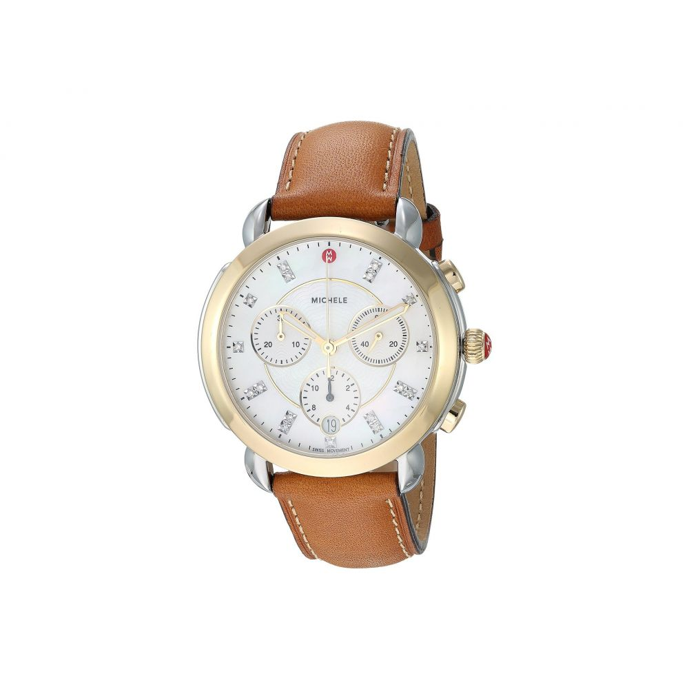 ミッシェル Michele レディース 腕時計Sidney Two Tone and Saddle Leather Diamond Dial Watch Saddle Two ToneKJTl13Fc