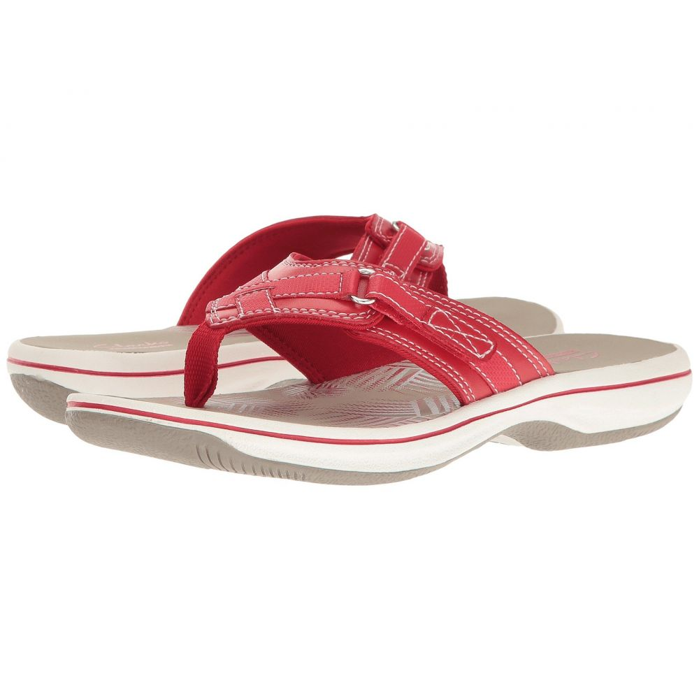 クラークス Clarks レディース ビーチサンダル シューズ・靴【Breeze Sea】Red