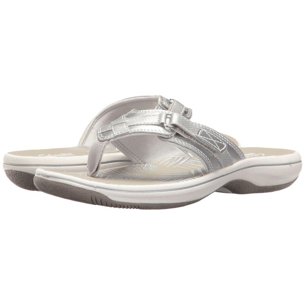 クラークス Clarks レディース ビーチサンダル シューズ・靴【Breeze Sea】Silver Metallic