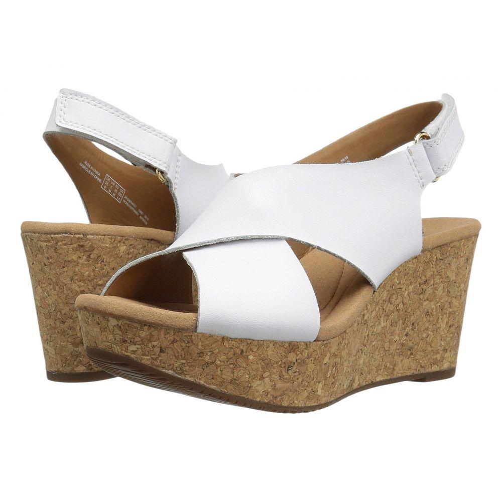 クラークス Clarks レディース ヒール シューズ・靴【Annadel Eirwyn】White Leather