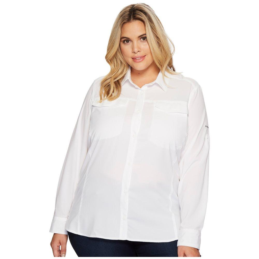 コロンビア Columbia レディース ブラウス・シャツ 大きいサイズ トップス【Plus Size Silver Ridge Lite Long Sleeve Shirt】White