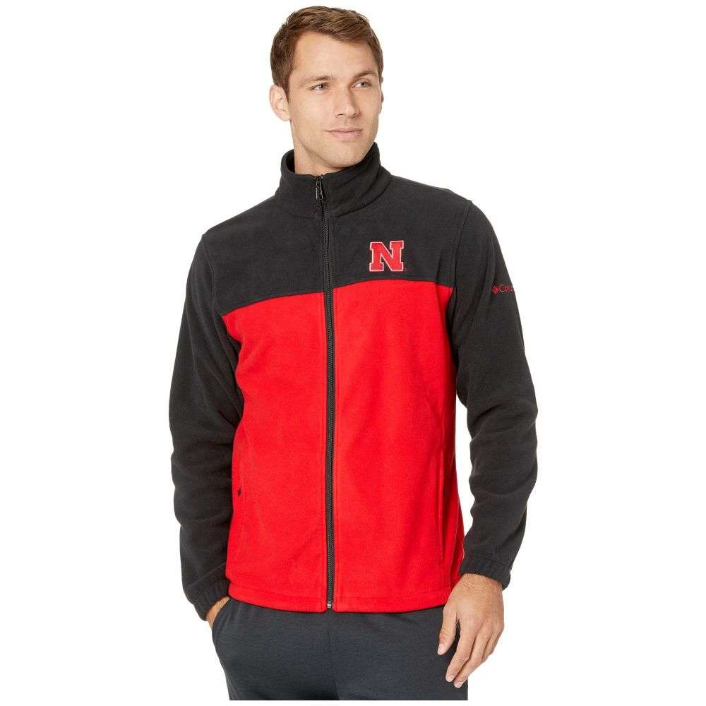 コロンビア Columbia College メンズ フリース トップス【Nebraska Cornhuskers CLG Flanker(TM) III Fleece Jacket】Black/Bright Red