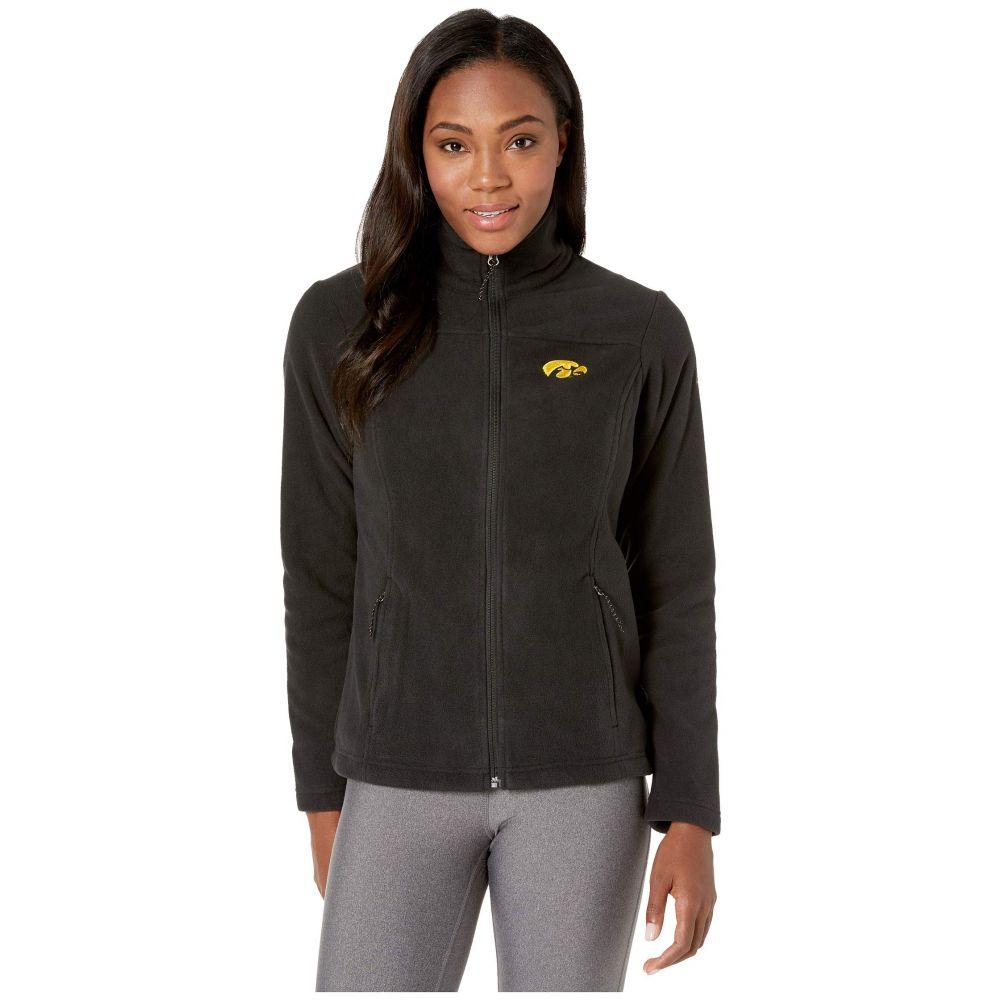 コロンビア Columbia College レディース フリース トップス【Iowa Hawkeyes CLG Give and Go(TM) II Full Zip Fleece Jacket】Black