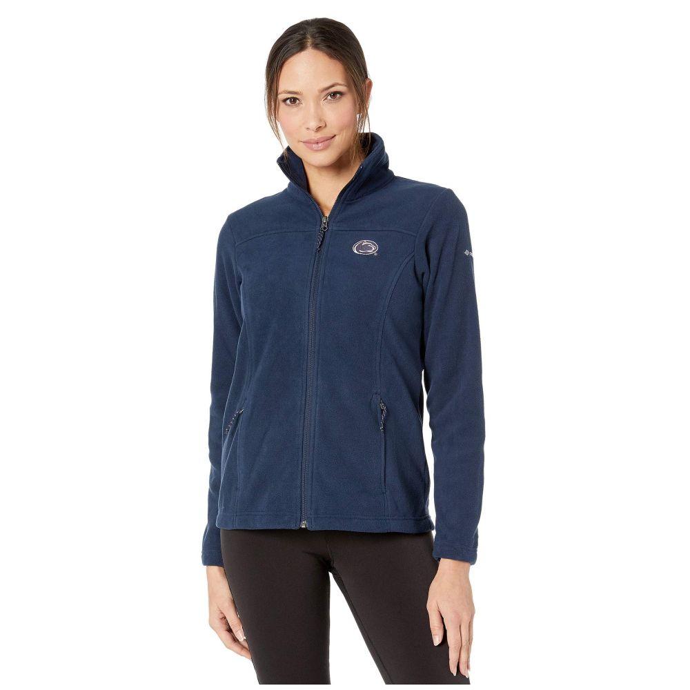 コロンビア Columbia College レディース フリース トップス【Penn State Nittany Lions CLG Give and Go(TM) II Full Zip Fleece Jacket】Collegiate Navy