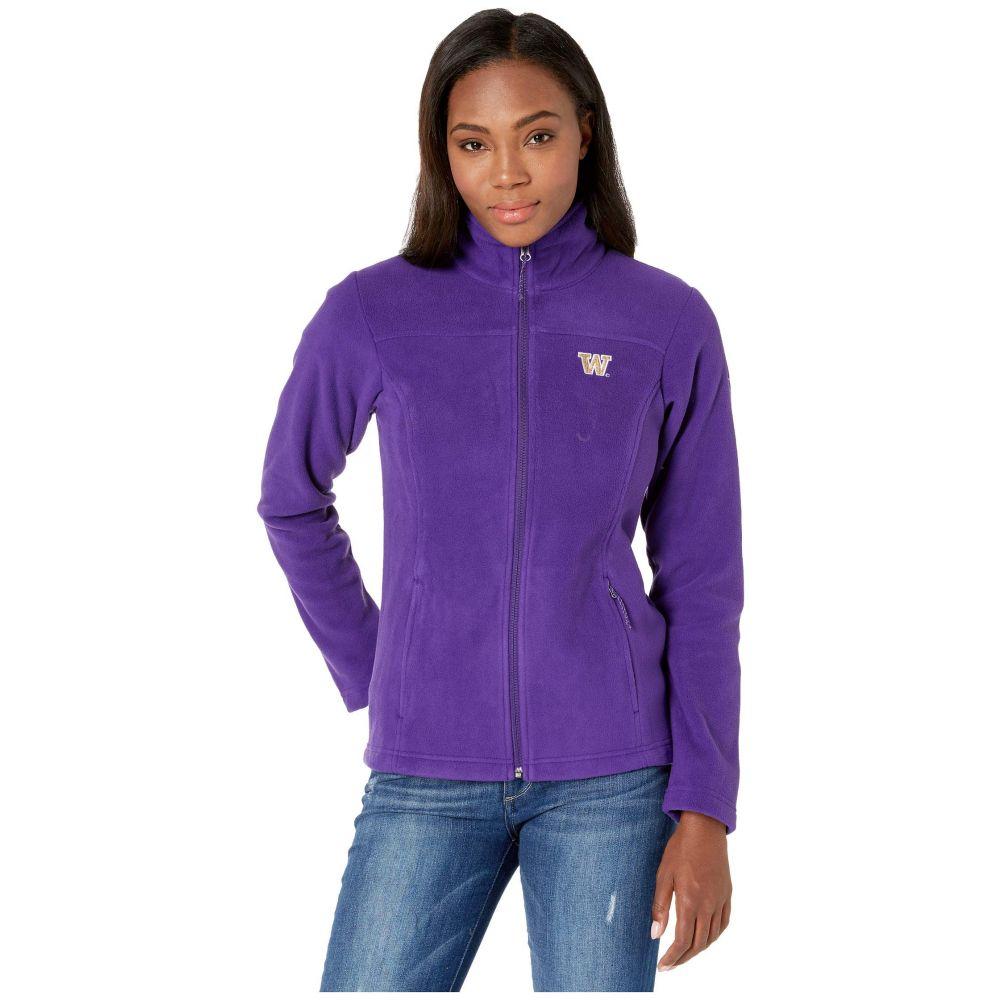 コロンビア Columbia College レディース フリース トップス【Washington Huskies CLG Give and Go(TM) II Full Zip Fleece Jacket】Purple
