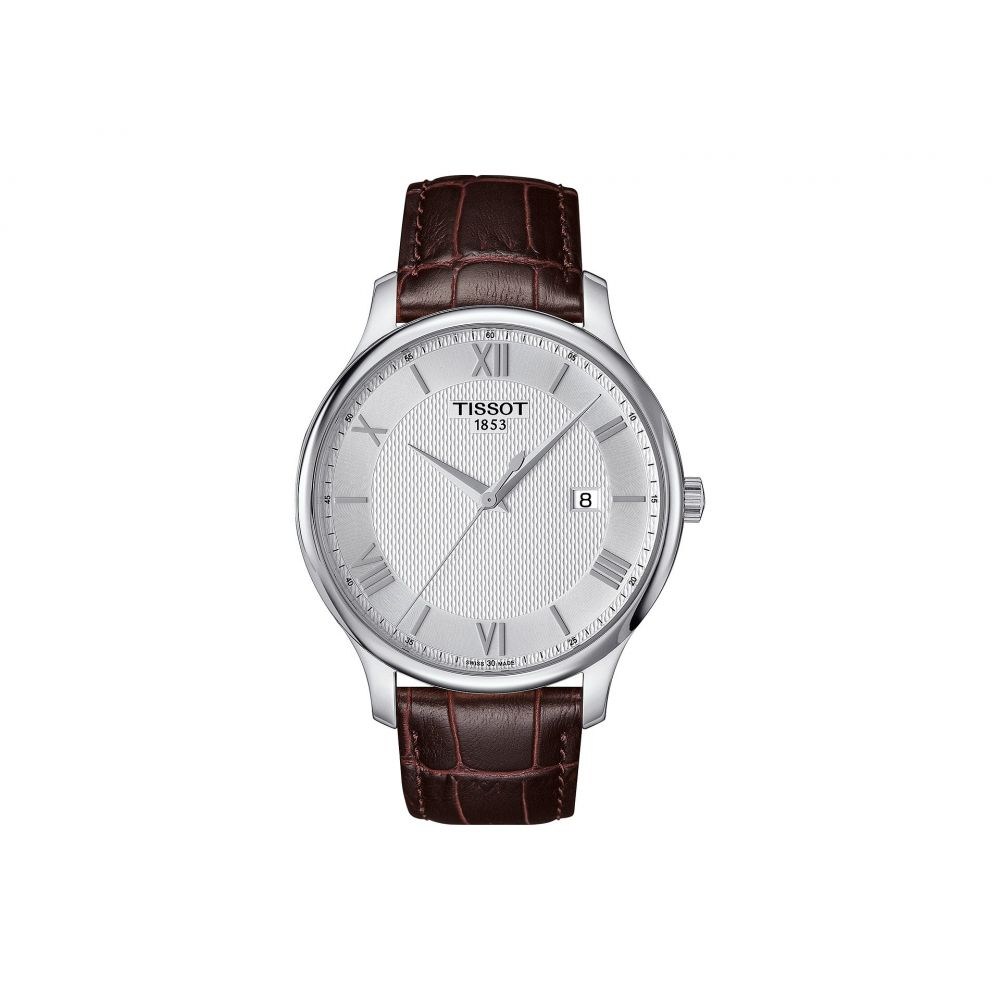 ティソ Tissot メンズ 腕時計 【Tradition - T0636101603800】Mother-of-Pearl/Brown